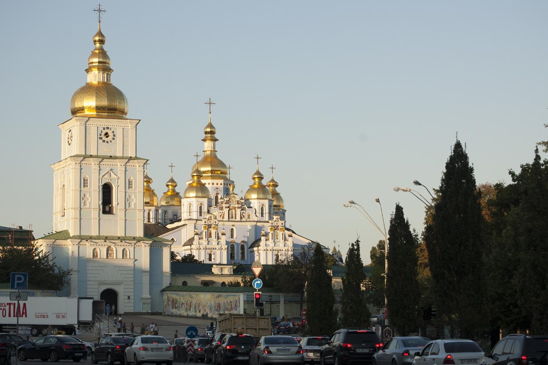 Kijów atrakcje zwiedzanie Ukraina Sobór Michała Archanioła