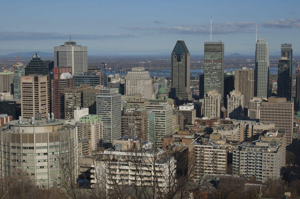 Montreal widok ze wzgórza Mont Royale