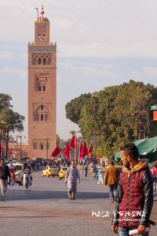 Marrakesz Maroko meczet Koutoubia minaret