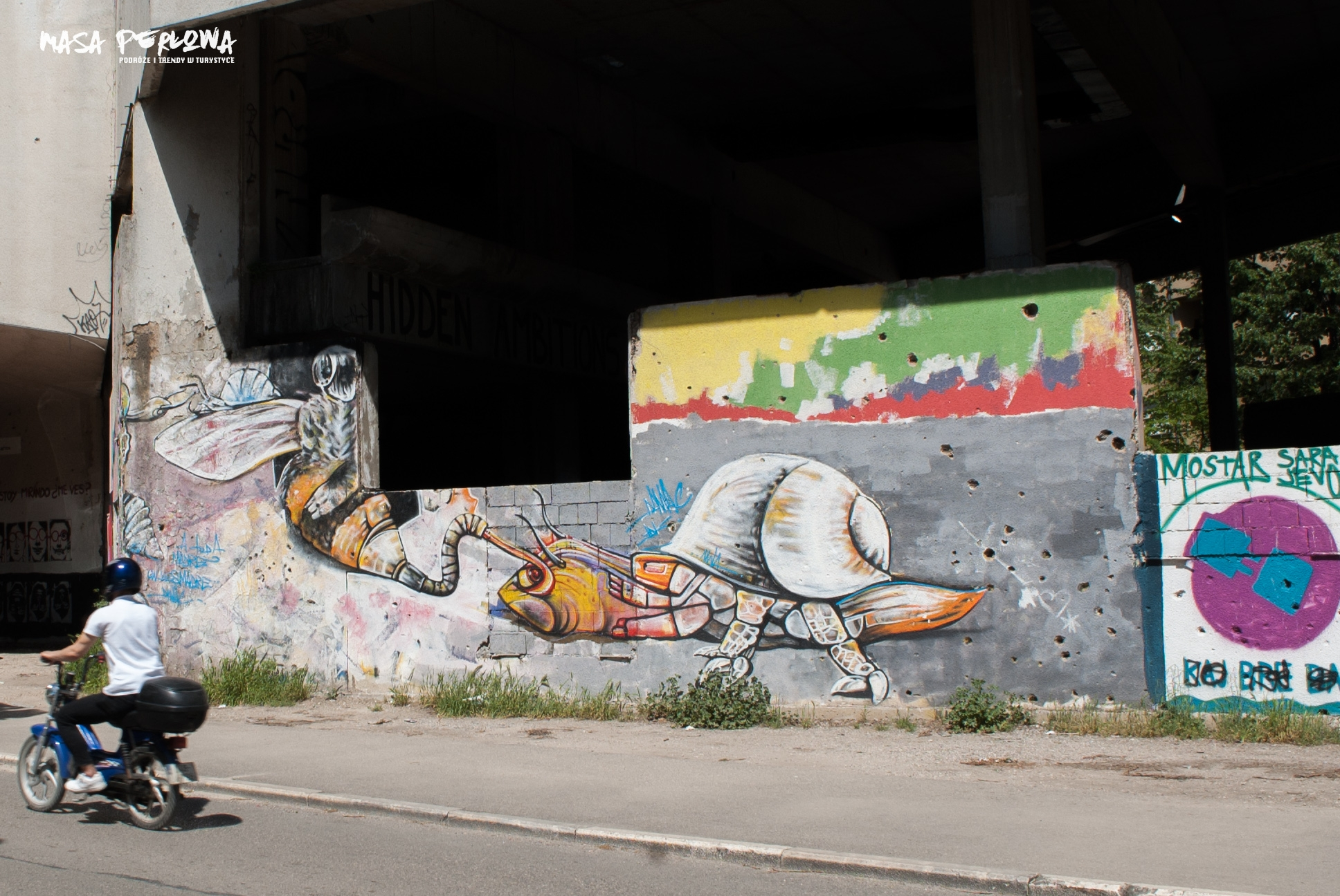Mostar mural Wieża Snajpera