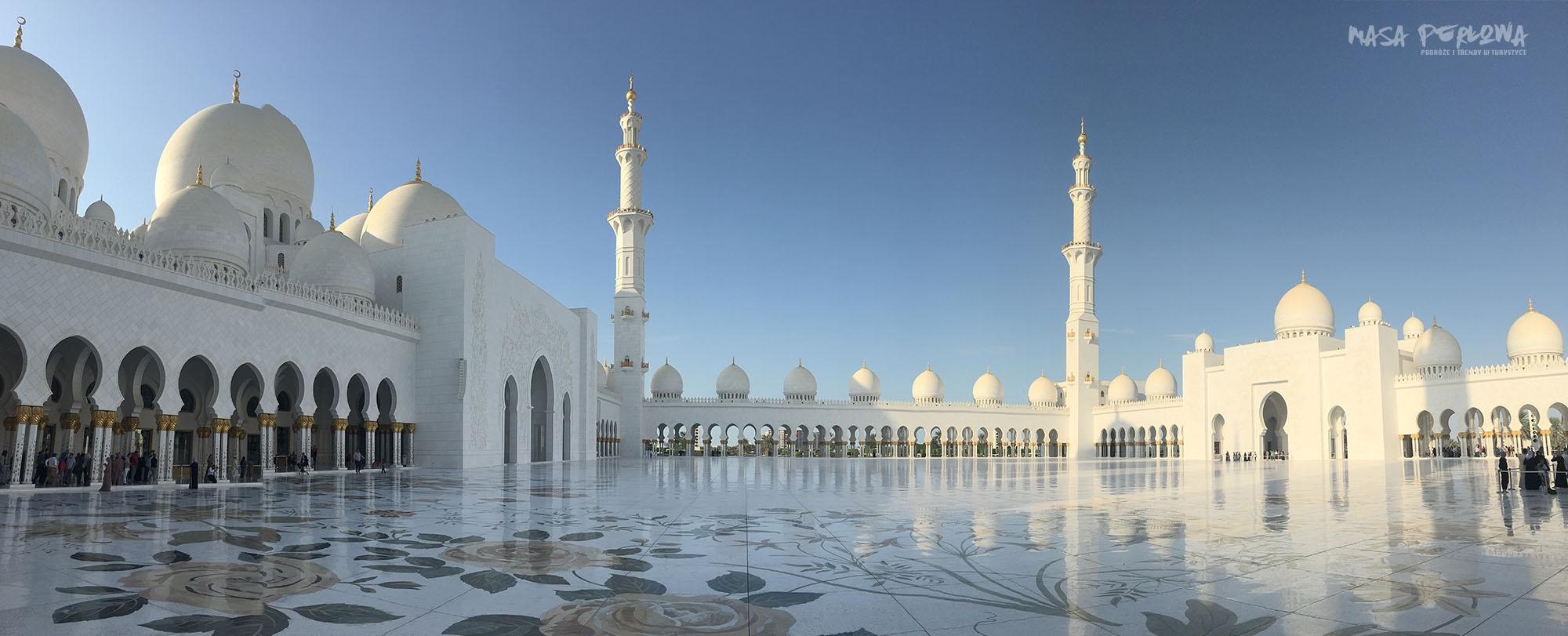 Abu Zabi Wielki Meczet panorama