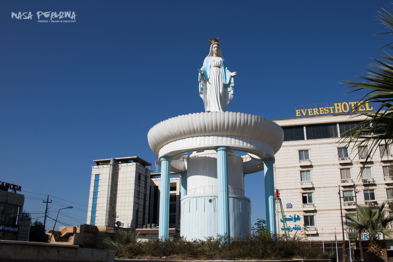Irbil Ankawa dzielnica chrześcijańska Irak Kurdystan