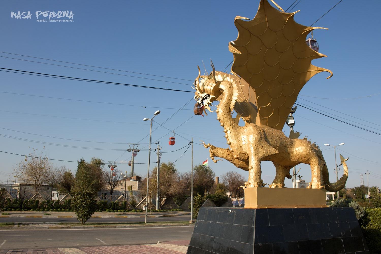 Irbil Minaret Park ulica Irak Kurdystan